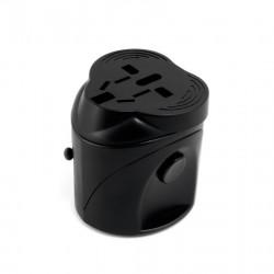 Сетевой дорожный универсальный адаптер ExtraDigital  (Black)