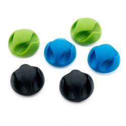 Органайзер для кабеля Cable Clips CC-929 (Black / Blue / Green)