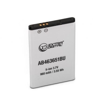 Аккумулятор ExtraDigital для Samsung C3322i (AB463651BU) 960 mAh