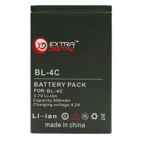 Аккумулятор для Nokia BL-4C (950 mAh) - BMN6267
