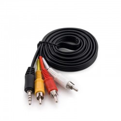 Кабель Extradigital Jack 3.5 mm straight degree 4pin 3 RCA AV(RYW) 1,5 м