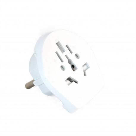 Сетевой дорожный универсальный адаптер ExtraDigital 06D White CUA1778