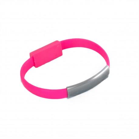 Кабель Extradigital USB Type C to USB 2.0 AM - браслет, 0.2m Розовый KBU1780