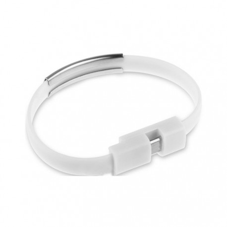 Кабель Extradigital Lightning to USB  - браслет, 0.2m Белый KBU1781