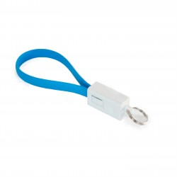 Кабель Extradigital Micro USB to USB  - брелок, 0.18m Голубой KBU1785