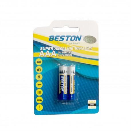 Батарейка Beston AAA 1.5V Alkaline, 2шт
