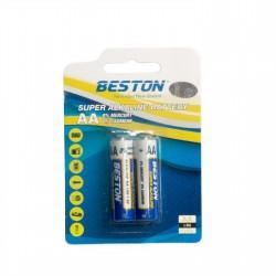 Батарейка Beston AA 1.5V Alkaline, 2шт
