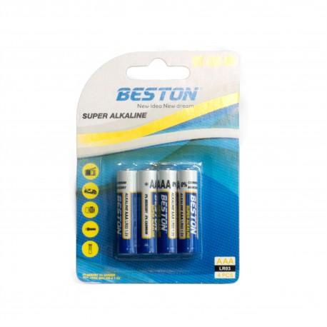Батарейка Beston AAA 1.5V Alkaline, 4шт