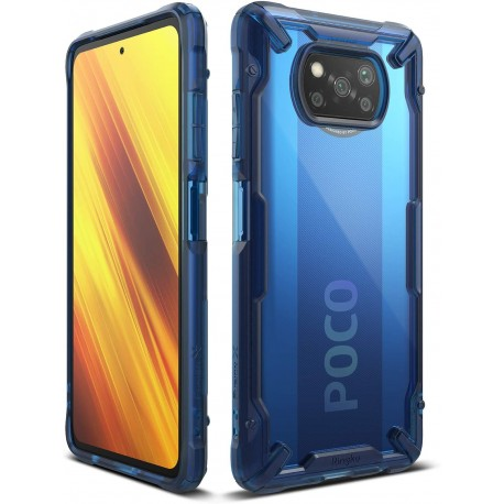 Чехол Ringke Fusion X для Xiaomi Poco X3 NFS Space Blue (RCS4806)
