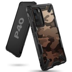 Чехол Ringke Fusion X DESIGN для Huawei P40 CAMO BLACK (RCH4843)
