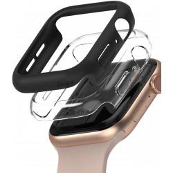 RINGKE SLIM CASE для Apple Watch 5, Apple Watch 4, Apple Watch 6. Apple Watch SE (44mm) Matte Black / Clear (RCA4909)