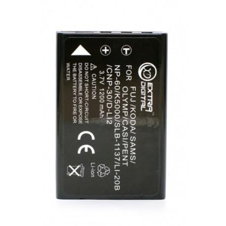 Аккумулятор Casio NP-30, KLIC-5000, LI-20B, D-L12, NP-60