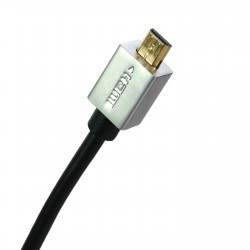 Extradigital micro HDMI to HDMI, 0.5m, v1.4b, 36 AWG, Gold, PVC, Ultra-Slim