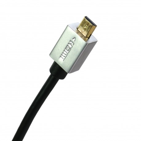 Extradigital micro HDMI to HDMI, 0.5m, v1.4b, 36 AWG, Gold, PVC, Ultra-Slim