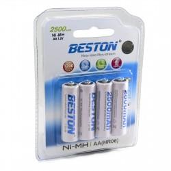 Аккумулятор Beston AA 2500mAh Ni-MH, 4шт
