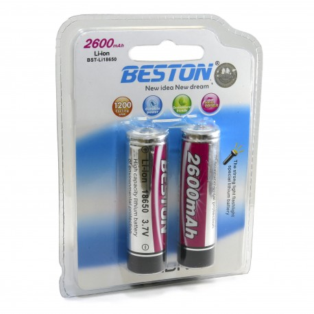 Аккумулятор Beston 18650 2600 mAh Li-ion, 2шт