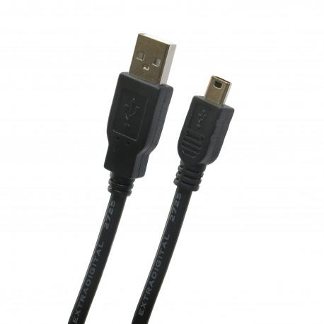 Extradigital USB 2.0 AM / mini USB B, 1.5m, 28 AWG, Hi-Speed