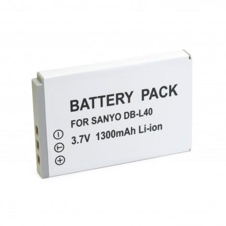 Аккумулятор для Sanyo DB-L40, Li-ion, 1300 mAh