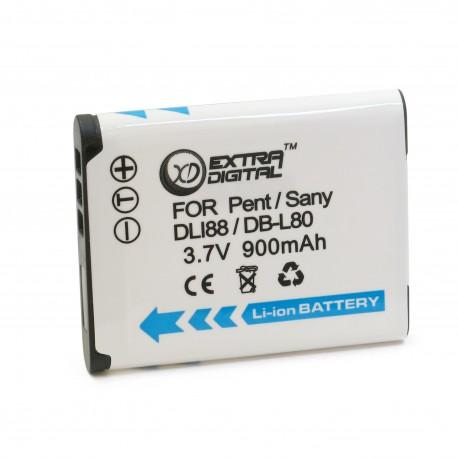 Аккумулятор для Sanyo DB-L80, Li-ion, 900 mAh