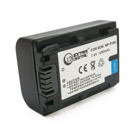 Аккумулятор для Sony NP-FV50, Li-ion, 1200 mAh (BDS2676)