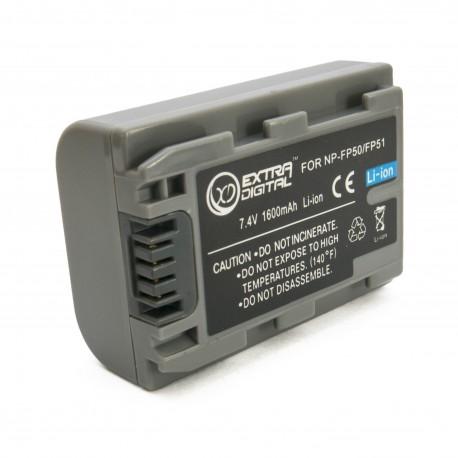 Аккумулятор для Sony NP-FP50, Li-ion, 1600 mAh (BDS2667)