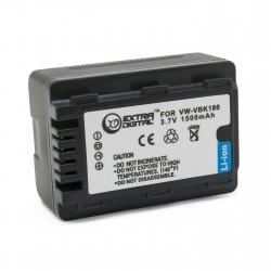 Аккумулятор для Panasonic VW-VBK180, Li-ion, 1500 mAh
