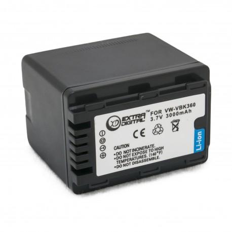 Аккумулятор для Panasonic VW-VBK360, Li-ion, 3000 mAh