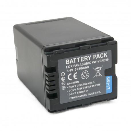 Аккумулятор для Panasonic VW-VBN390, Li-ion, 3750 mAh