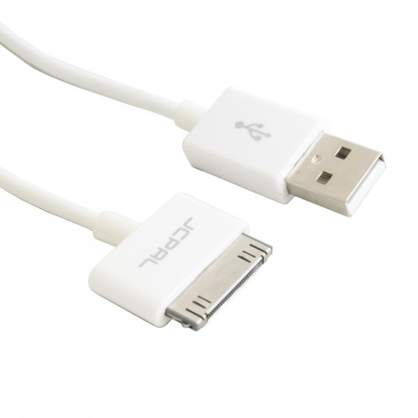 Кабель JCPAL 30-pin to USB, 1m White