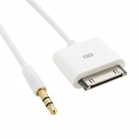 Кабель Extradigital AUX 3.5mm to Apple 30-pin, 1.5m, 30 AWG, Stereo, Gold, PVC