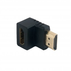 Адаптер Extradigital HDMI to HDMI, 90 Degree, v1.4, Gold