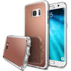 Чехол Ringke Fusion Mirror для Samsung Galaxy S7 Edge Rose Gold (825243)