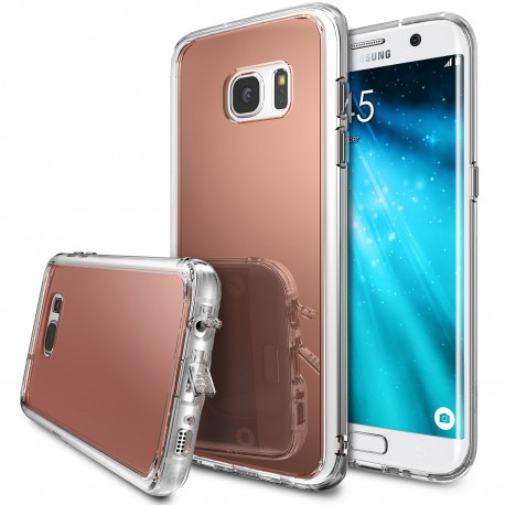 Чехол Ringke Fusion Mirror для Samsung Galaxy S7 Edge Rose Gold (825243)