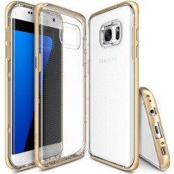 Чехол Ringke Fusion Frame для Samsung Galaxy S7 Edge Royal Gold Clip (827377)